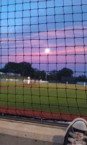 Gorgeous night for a ballgame.