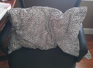 Kitty print pillow