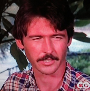 Randolph  Mantooth not being Johnny Gage, but doing it with a fantastic mustache.